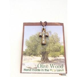 Olive Wood Cross -Pendant
