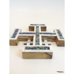 Olive Wood And Mother of Pearl Jerusalem Cross