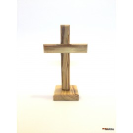 Olive Wood Cross -With Stand