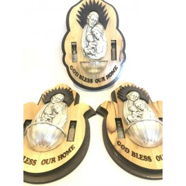 Olive Wood Holy Family Wall Plaque