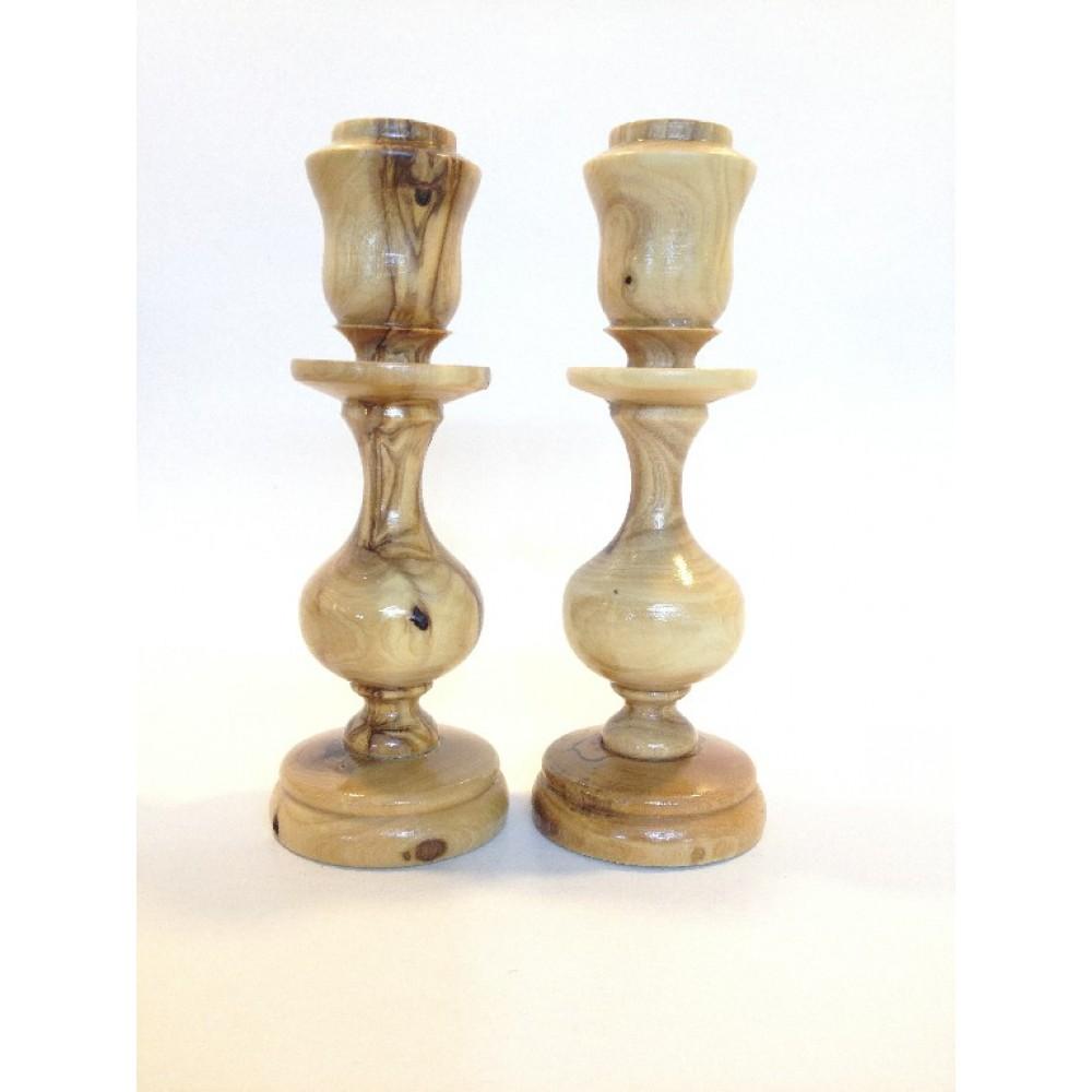 Olive Wood Candle Holder made in bethlehem