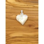 Mother Of Pearl and Paua Shell Heart -Pendant