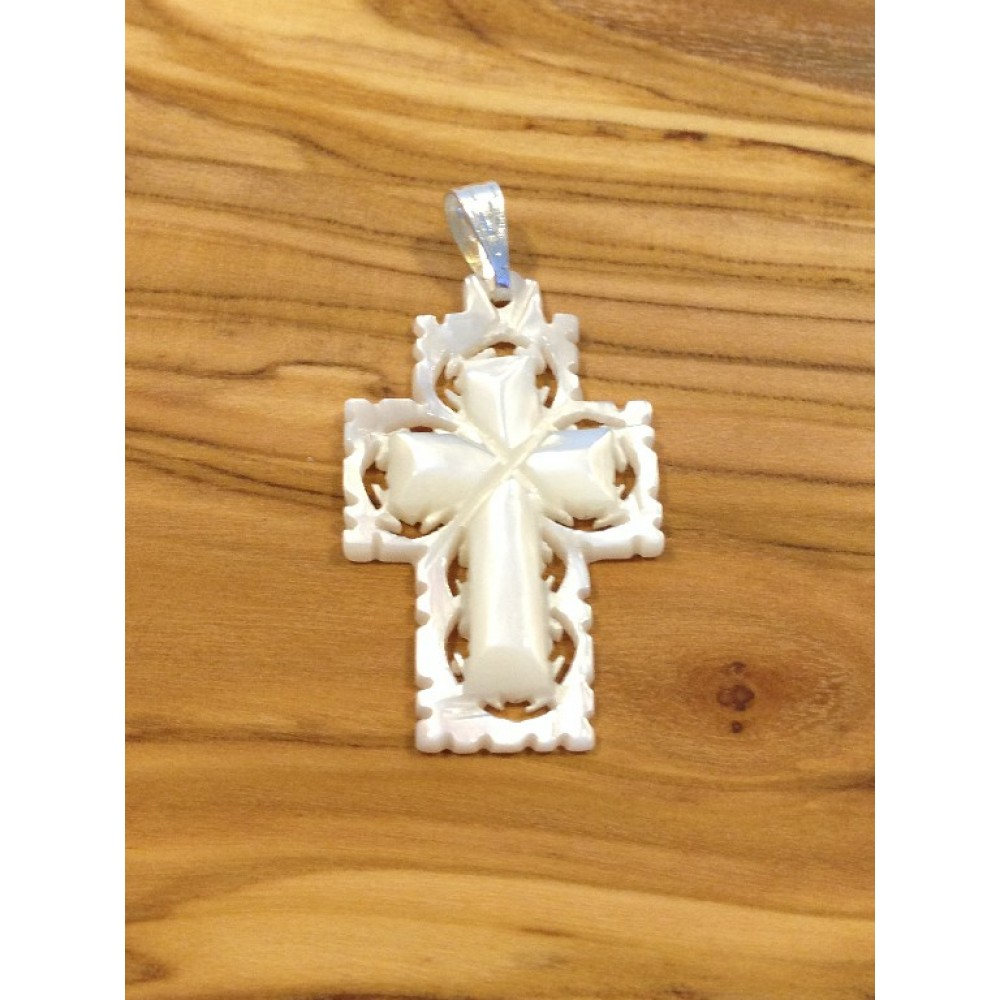 Mother of Pearl Cross-Pendant