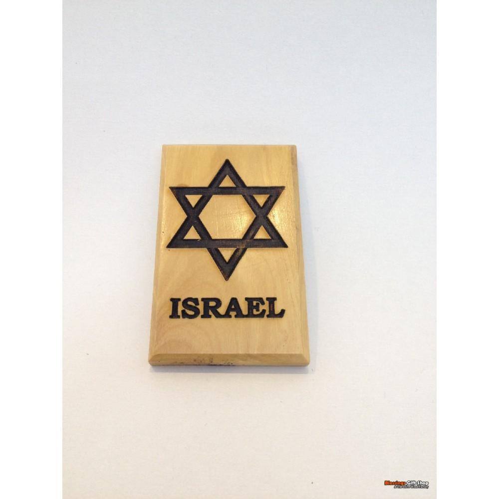 Olive Wood Magnet-David Star