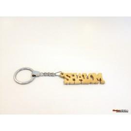 Olive Wood Key Chain -Shalom