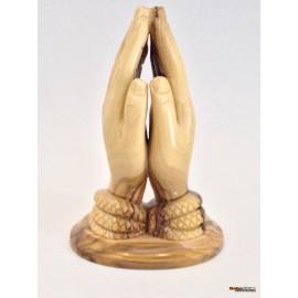 Olive Wood Praying Hands-Master Piece