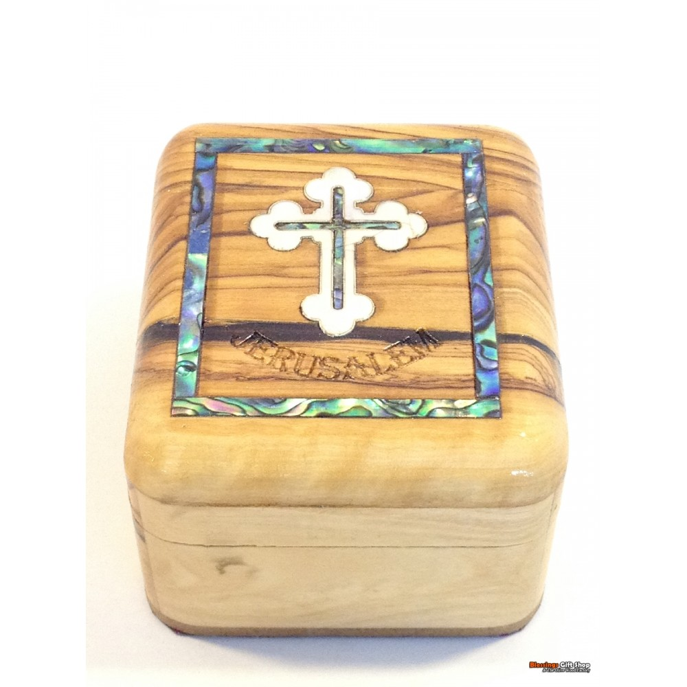 Olive Wood And Mother of Pearl Box