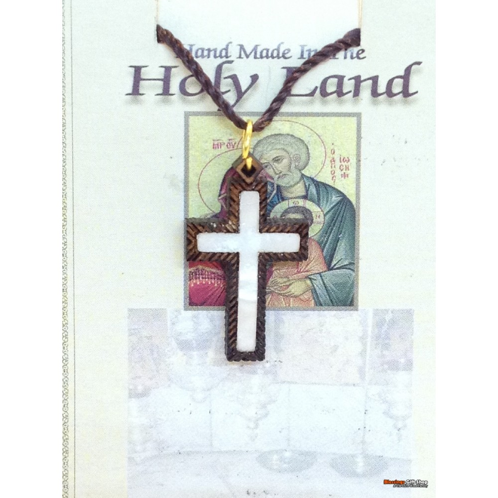 Olive Wood And Mother of Pearl Cross