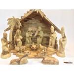 Olive Wood Nativity Set and House