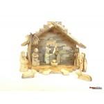 olive Wood Nativity Set and Crib