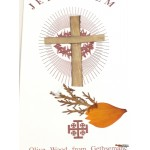Flower Cards from Bethlehem and Olive Wood cross